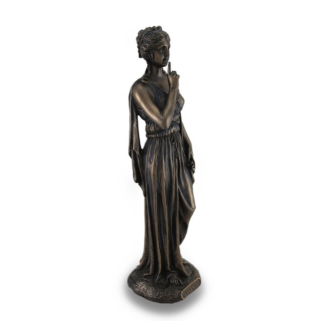Silence Is A Virtue Bronze Finished Statue Hand Statues