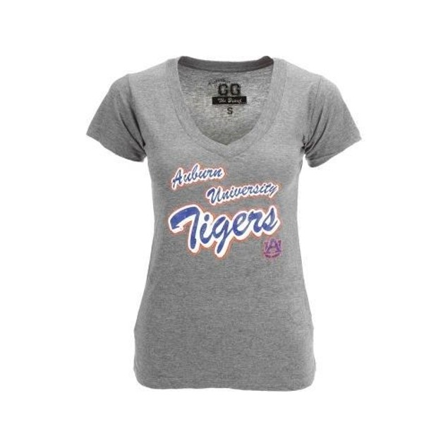Auburn Tigers NCAA V-Neck Vintage Tee