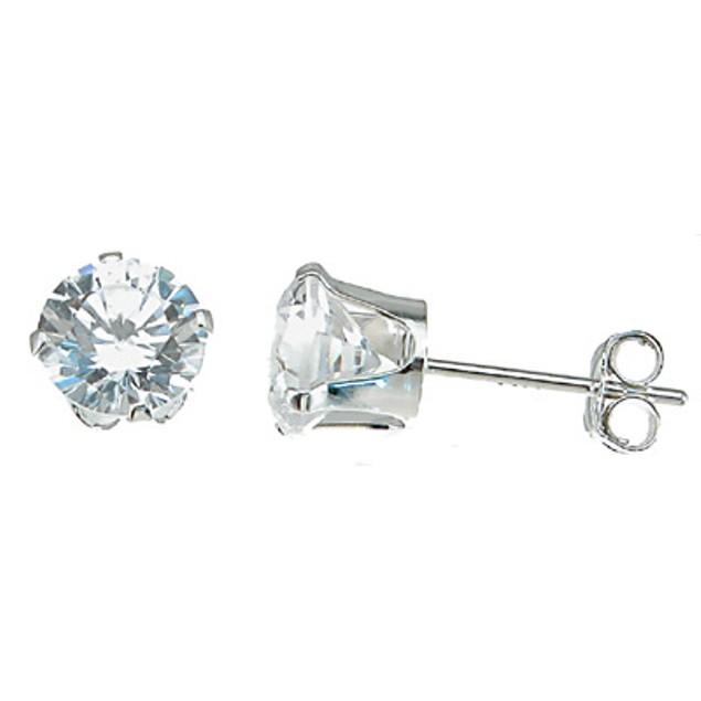 2ct Diamond Cz Stud Earrings Sterling Silver
