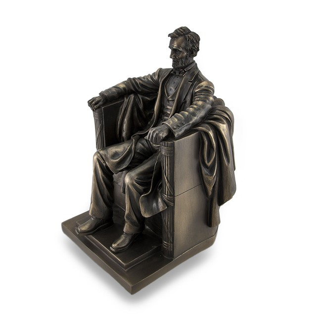 Seated Abraham Lincoln Bronzed Historical Statues