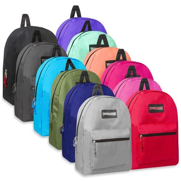 """Classic 17"""" Trailmaker Backpack 12 Color Variety"""