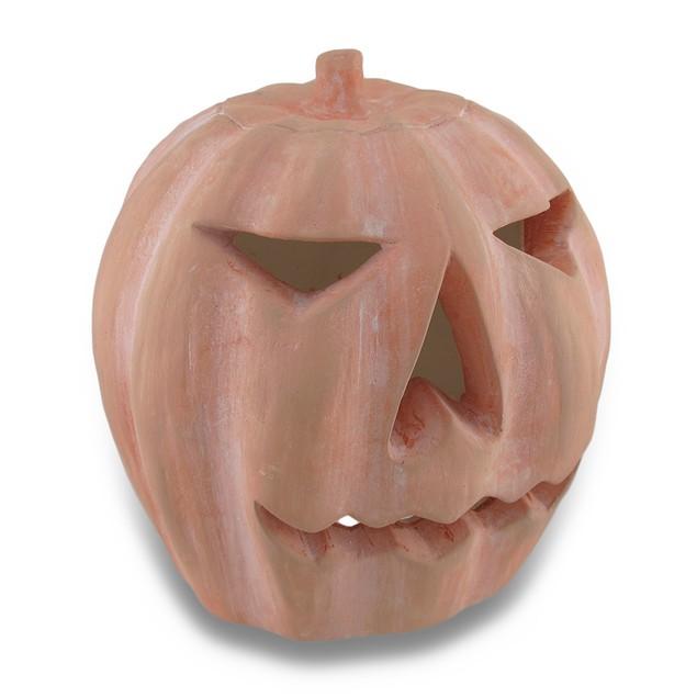 Handcrafted Plaster Jack O'lantern Pumpkin Statue Statues