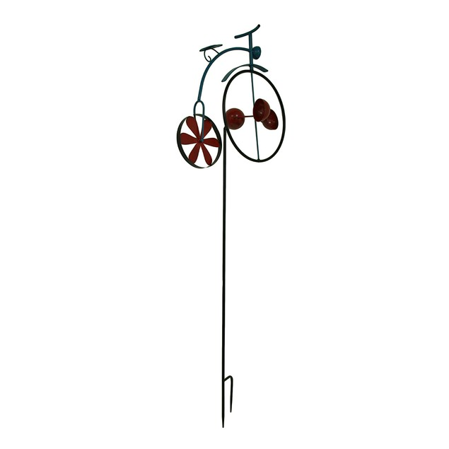 Penny Farthing Vintage Bicycle Wind Cup Pinwheel Garden Stakes