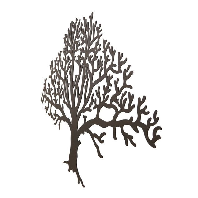 Metal Brown Tree Decorative Wall Hanging Wall Sculptures