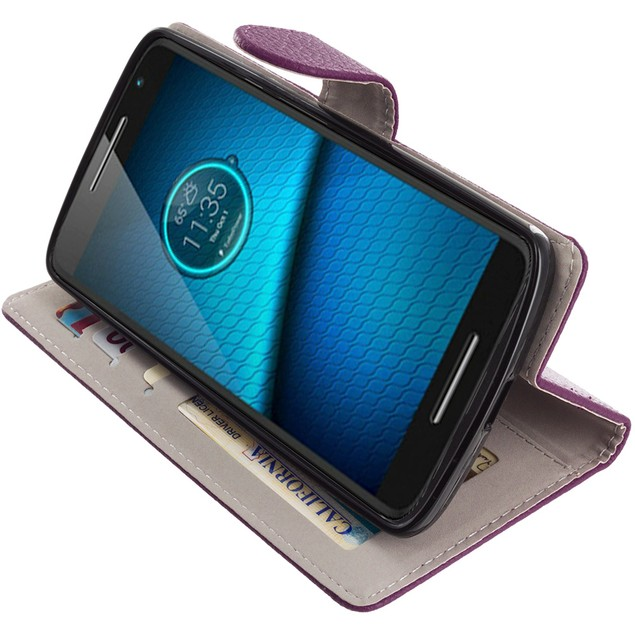 Motorola Droid Maxx 2 XT1565 Wallet Pouch Case Cover with Slots