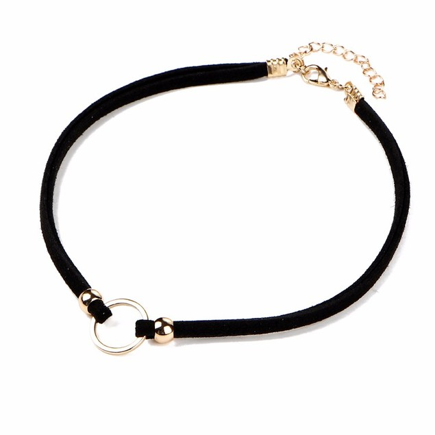 Gold Open Circle Choker