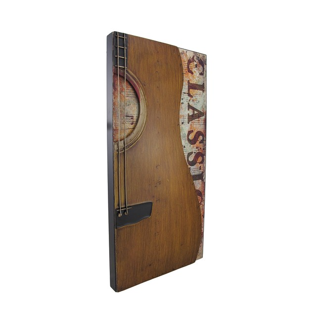 Classic Metal Acoustic Guitar Wall Hanging Decorative Plaques