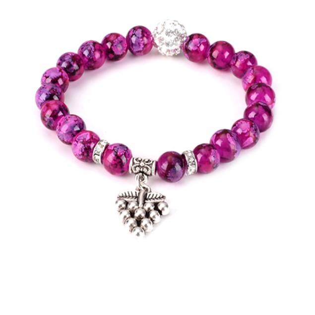 Grape Bead Bracelet