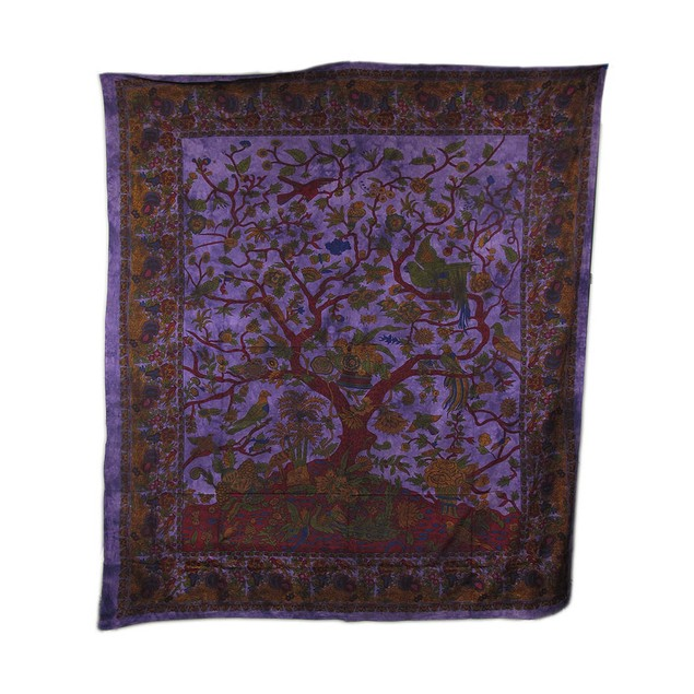 Giant Purple Tree Of Life Tapestry 94 X 82 In. Tapestries