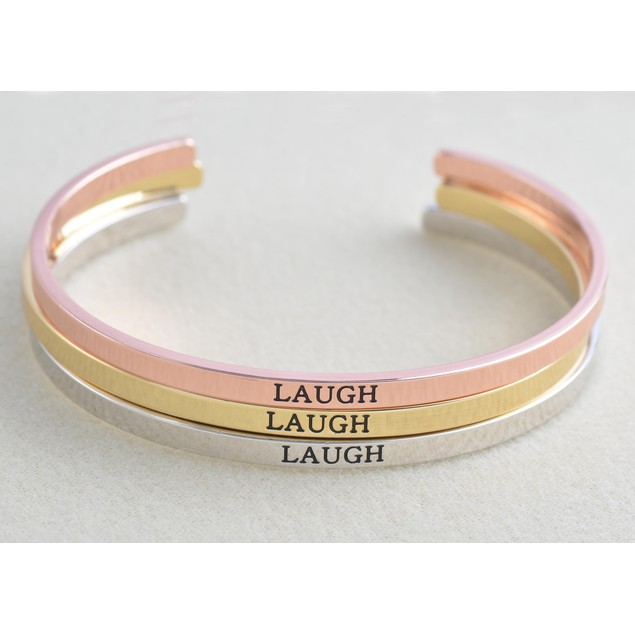 Inspiration Cuff Bracelets - Choose Phrase & Color!