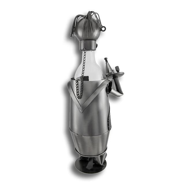 Chubby Waiter Metal Sculpture Wine Bottle Display Tabletop Wine Racks