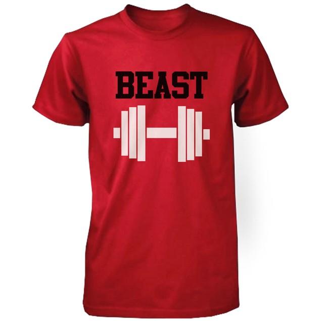 RED Beauty & Beast Couple T-shirt (Two Shirts)  Matching Couple T-Shirts
