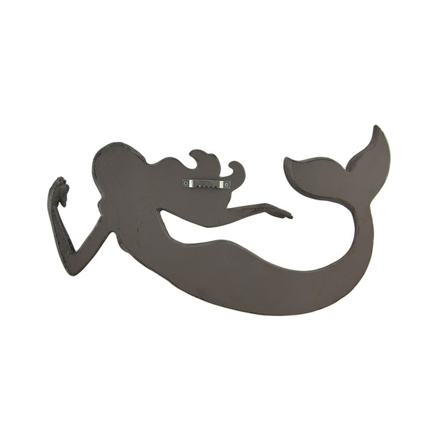 Rustic Finish Floating Mermaid Wall Hanging Wall Sculptures