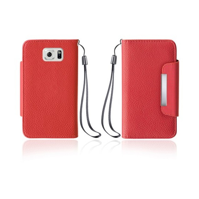 Leather Wallet Case With Clip for Samsung Galaxy S6 Edge