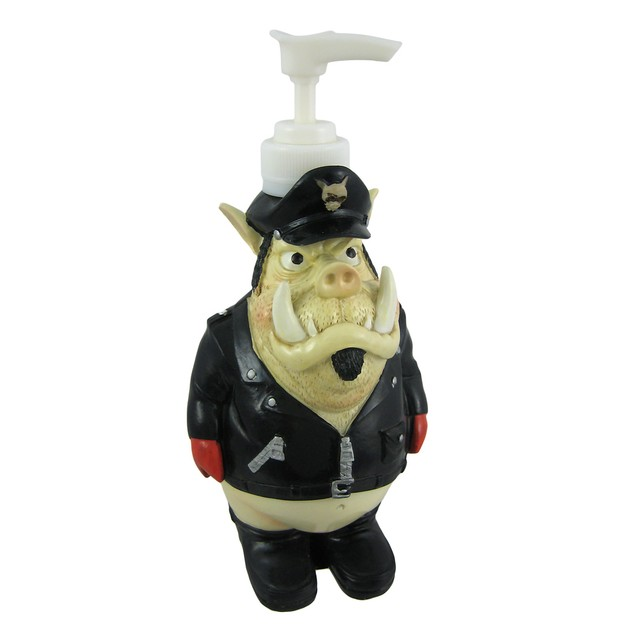 Comical Biker Hog Soap / Lotion Dispenser Hawg Countertop Soap Dispensers