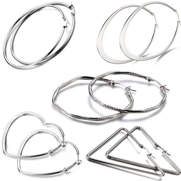 5-Pack: Assorted Hoop Earrings