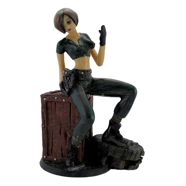 Apocalyptic Military Manga Anime Girl Statue Statues