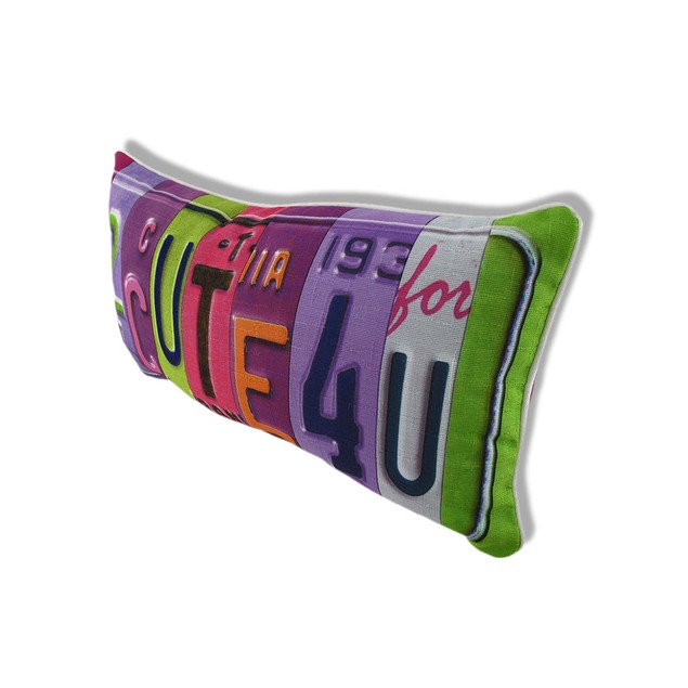 Kate Ward Thacker 2 Cute 4 U Retro Humor License Throw Pillows