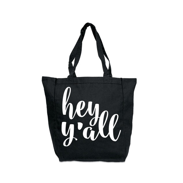 Hey Y'all Black Tote Bag