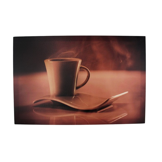 Sepia Cup Of Coffee And Saucer Stretched Nylon Prints