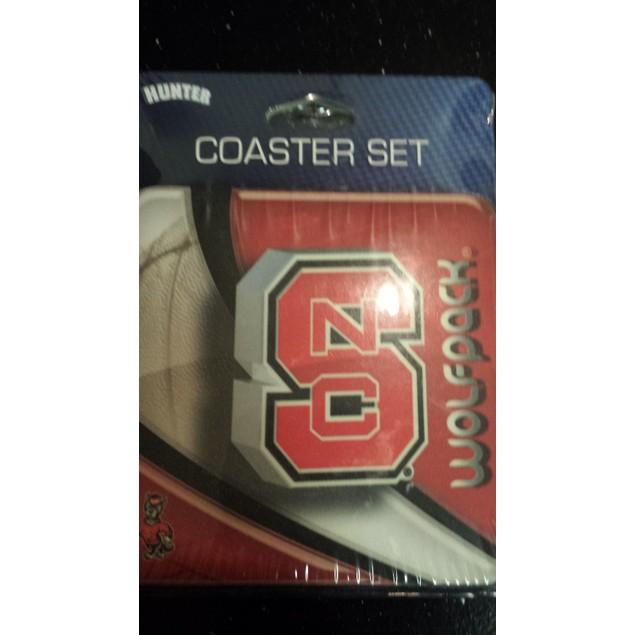 North Carolina State Wolfpack NCAA Coaster Set 4 Pack New