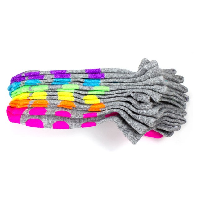 Rampage Women's No Show Socks Weekdays - 6-Pack