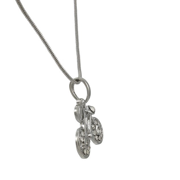 Silvertone Snake Chain With Bicycle Charm Mens Pendant Necklaces