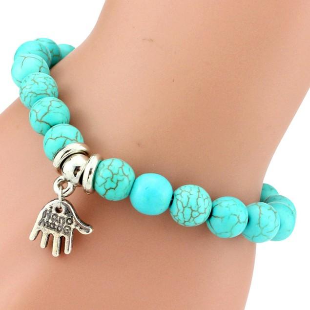 Arm Charm Turquoise Stone Bracelet
