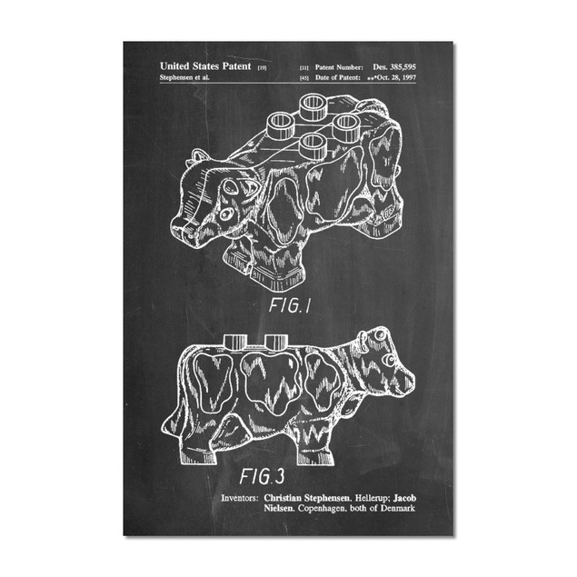Lego Cow Patent Poster