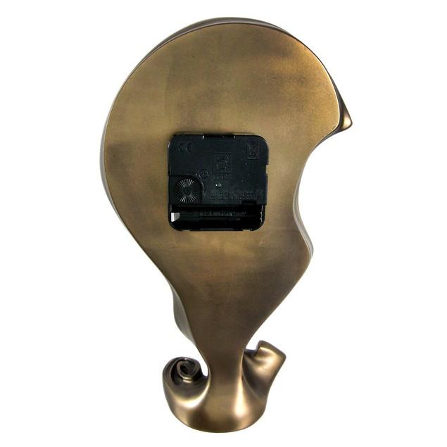 Cool Bronze Finish Melted Mantel Clock Table Desk Desk Clocks