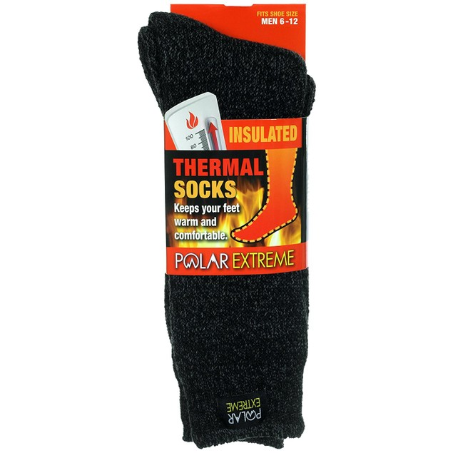 4-Pack Men's Polar Extreme Moisture Wicking Insulated Thermal Socks