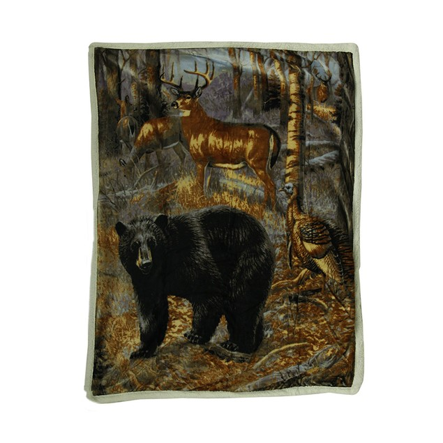 Sherpa Hunter Trophies Silk Touch Throw Blanket 60 Throw Blankets