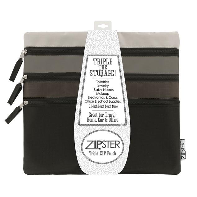 Zipster Triple Zip Pouch