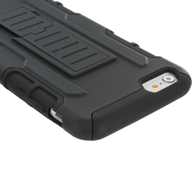 Apple iPhone 6 Plus (5.5) Hybrid Case Cover Belt Clip Robot Holster