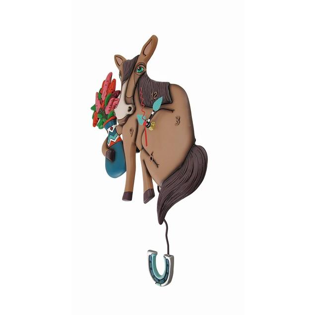 Allen Designs Horse Of Course Pendulum Wall Clock Wall Clocks