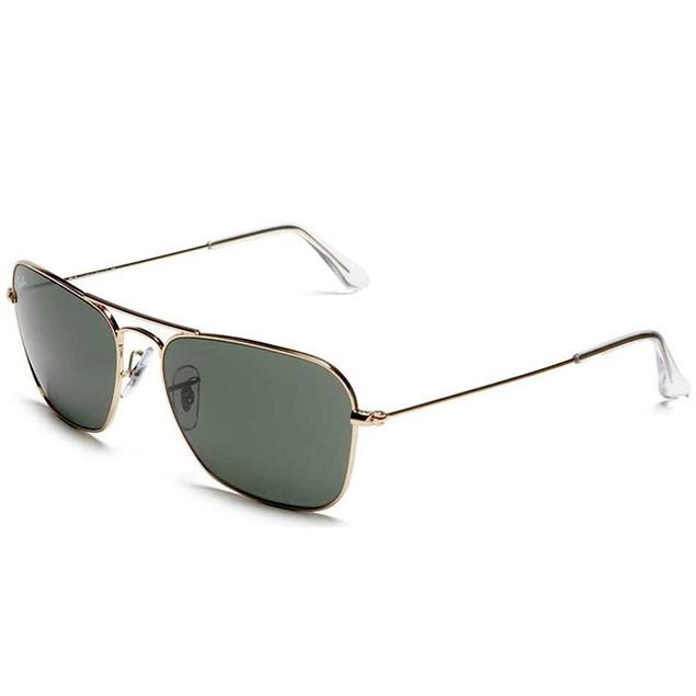 Ray-Ban Men's Caravan Grey Aviator Sunglasses