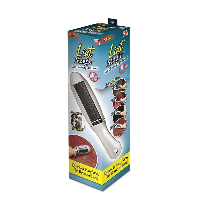 2-Pack Lint Magic: Self Cleaning Lint Brush