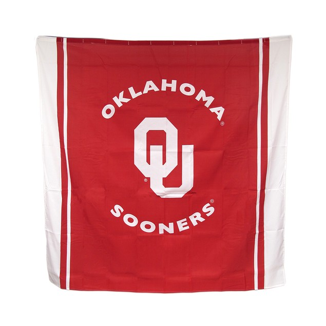 Oklahoma Sooners Fabric Shower Curtain 71 X 71 In. Shower Curtains