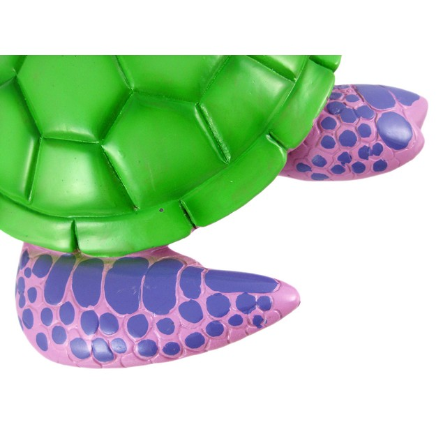 Purple / Green Sea Turtle Piggy Bank Coin Money Toy Banks