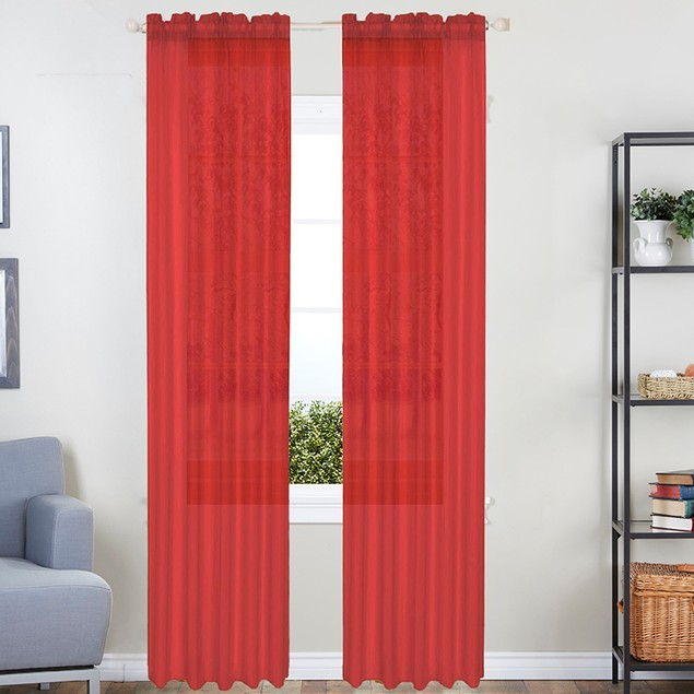 2-Pack Linda Sheer Voile Curtain Panels