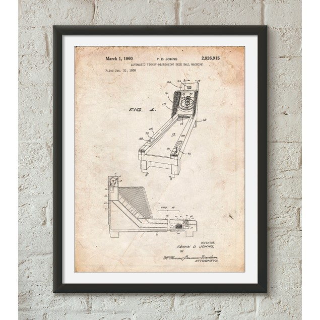 Skee Ball Patent Poster