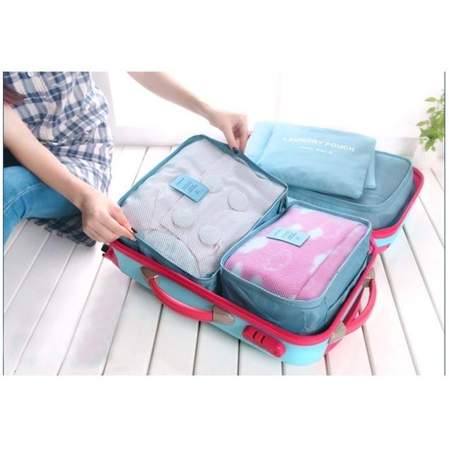 6-Piece Travel Set Organizer - 4 Colors