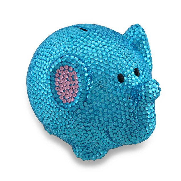 Sparkling Blue Elephant Coin Bank Razzle Dazzle Toy Banks