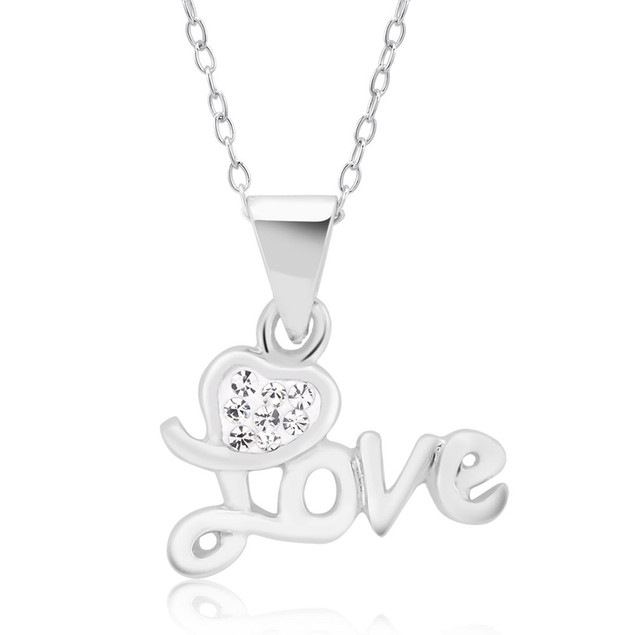 Gold Plated Crystal Love Necklace