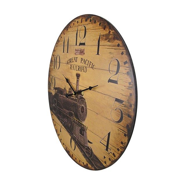 23 Inch Diameter Great Pacific Railroad Wall Clock Wall Clocks