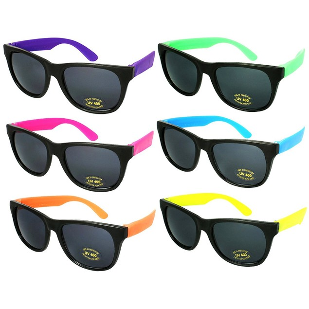6 Pack Neon Sunglasses