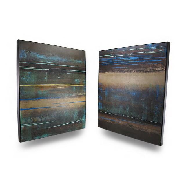 Modern Landscape Earth Tone Canvas Wall Hangings Prints