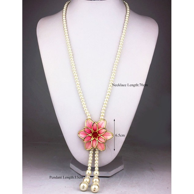 Luxury Crystals & Pearls Necklace Set