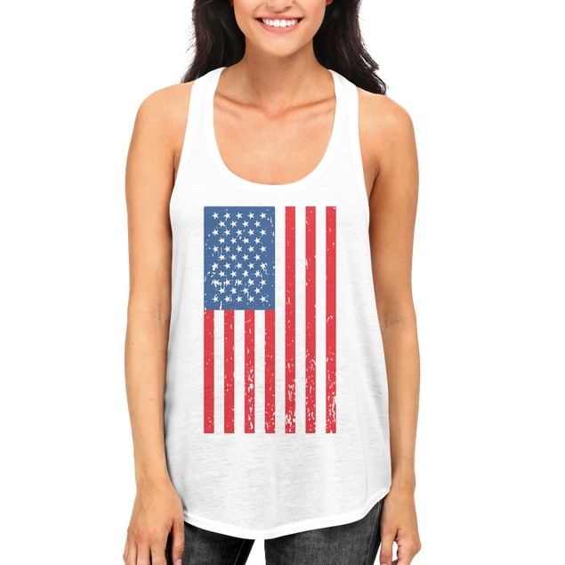 American Flag Cute independence Day Tank Top for Women Fourth of july