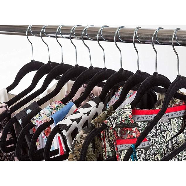 Velvet Non-Slip Space-Saving Hangers (25, 50, or 100-Pack)